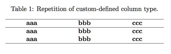 repeat column type in latex tabular  u2013 texblog