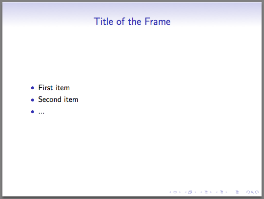 Beamer: An introduction to LaTeX presentations – texblog